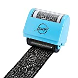 Miseyo Wide Roller Stamp Identity Theft Stamp 1.5 inch Perfect for Privacy Protection - Blue