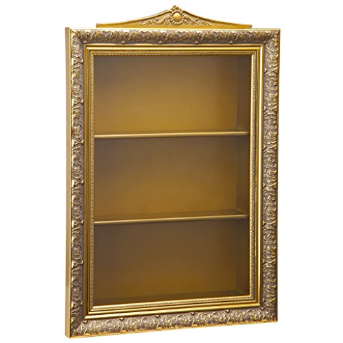 - Design Toscano BN5660 Eggs of The Tsar Wall Curio Display Cabinet, Gold