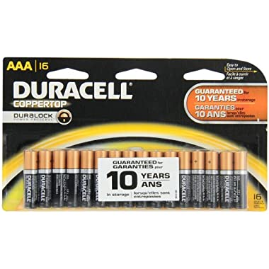 Duracell Coppertop AAA Alkaline Batteries, 16 Count