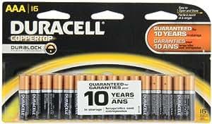 Amazon.com: Duracell Coppertop AAA Alkaline Batteries, 16