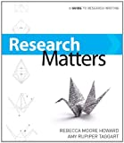 research matters a guide to research writing service
