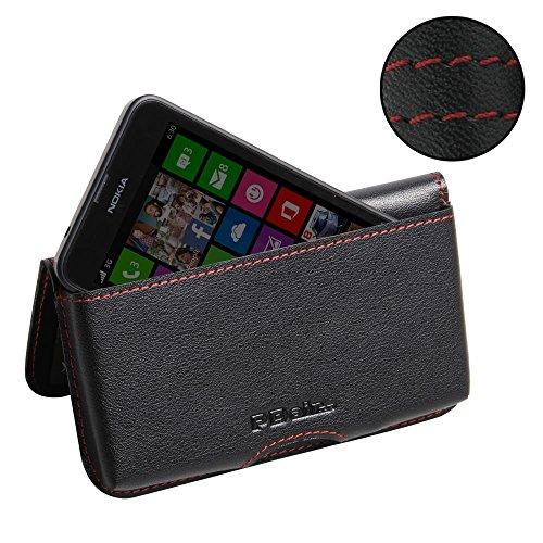 Nokia Lumia 630 635 Leather Wallet Folio Case (Red Stitch), PDair Wallet Genuine Leather, Wallet Flip Case, Luxury Premium Wallet Pouch for Nokia Lumia 630 - 635 Free Case Shipping Nokia
