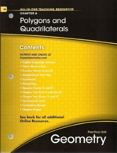 Polygons and Quadrilaterals, Chapter 6, Geometry, All-in-One Teaching Resources