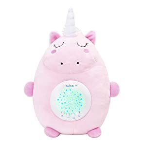 Bubzi Co Baby Toys Unicorn White Noise Sound Machine, Toddler Sleep Aid Night Light, Unique Baby Girl Gifts & Baby Boy Gifts, Baby Shower Gifts, Portable Baby Soother, New Baby Gift, Gender Neutral