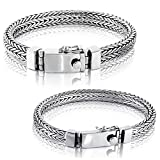 Solid 925 Sterling Silver Small or Big Men Bracelet - Made in Thailand - B 8.2