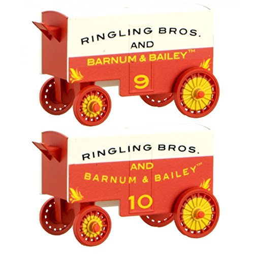 (Circus Wagon 2-Pack - Ready to Run -- Ringling Bros. and Barnum & Bailey #9, 10 (white, red))