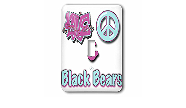 3drose Lsp 122605 1 Love Peace And Black Bears In Blue And Purple Single Toggle Switch Switch Plates Amazon Com