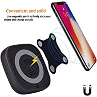 SGOOD Wireless Charger Power Bank,Portable Wireless Powerbank Qi Certified Charging Pad,4000 mAh External Battery Pack with Magnet for IPhone X/8/8 Plus Samsung Note 8/S8/S8+/S7 edge/S7(Black)