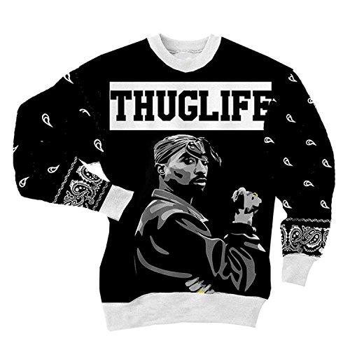 CHIC Women Men Tupac Shakur 2Pac Sweatshirt 3D Hoodies Clothing T Shirt (M) by Chiclook Cool