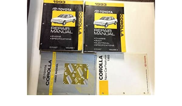 1993 toyota corolla service repair shop manual set oem w ewd transaxle  features paperback – 1993
