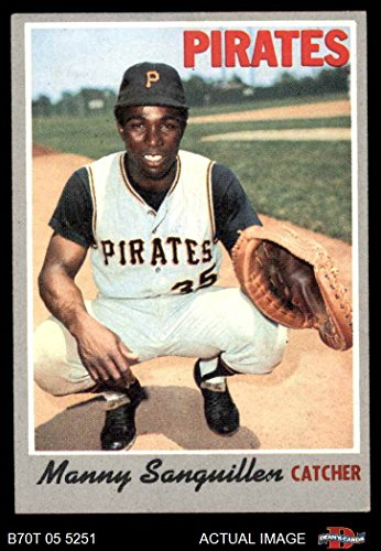 - 1970 Topps # 188 Manny Sanguillen Pittsburgh Pirates (Baseball Card) Dean's Cards 5 - EX Pirates