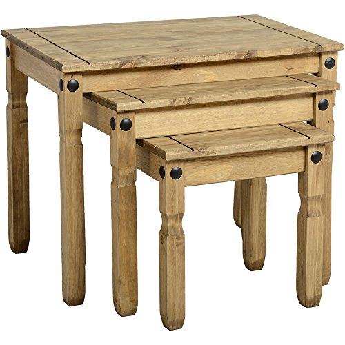Corona Mexican Pine NEST TABLES 3