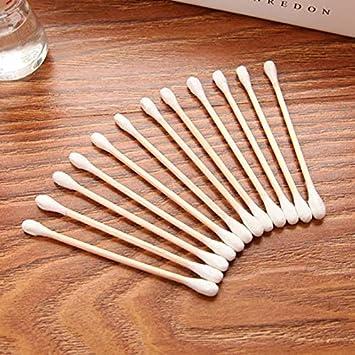 SODIAL 800Pcs / Paquete Hisopos De Algodón Desechables Brotes De Algodón De Bambú Bastoncillos De Algodón Palillos De Madera De Limpieza De Oído Médico Tampones Herramientas De Maquillaje: Amazon.es: Belleza