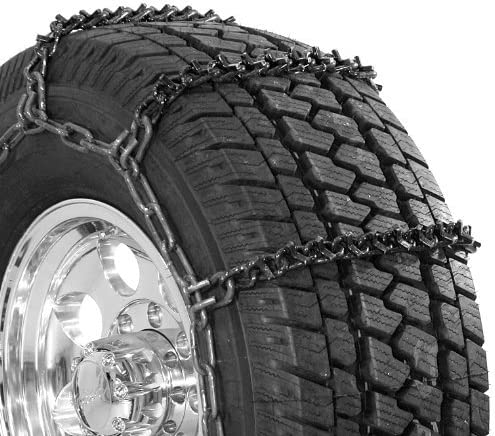 Security Chain Company QG2809 Quik Grip V-Bar Light Truck LRS Tire Traction Chain Set of 2
