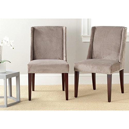 Safavieh Mercer Collection Humphrey Dining Chair, Mushroom Taupe, Set of 2 -  MCR4713B-SET2