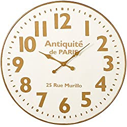 Midwest-CBK White and Gold Wall Clock - 36 Diameter
