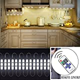 12V 20W 2400LM 60 SMD5730 LED Mirror Light with Remote Control Brightness Dimmable for Cabinet Closet Kitchen Counter Decoration(Warm white)