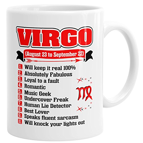 Virgo Romantic Fabulous Zodiac Coffee Mug Gift For All Occasions