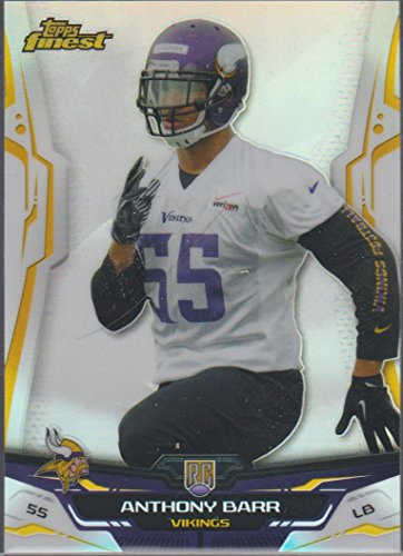 - 2014 Topps Finest Refractor Anthony Barr Vikings Rookie Football Card #145