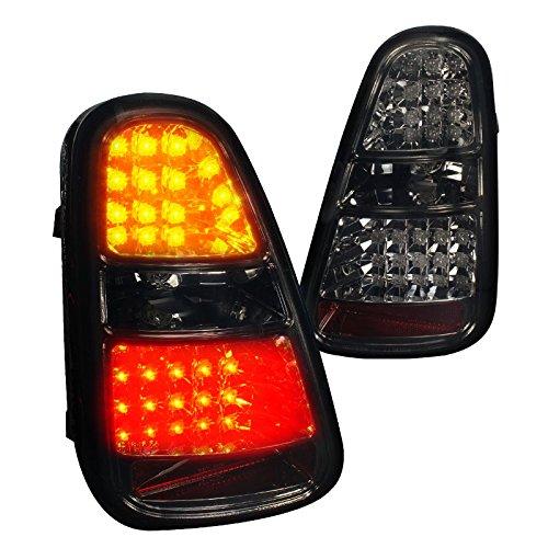 Spec-D Tuning LT-MINI06GLED-TM Mini Cooper S Smoke Led Tail Lights Brake Reverse Signal Lamp