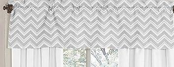 Sweet Jojo Designs Window Valance For Yellow And Gray Chevron Zig Zag Bedding Collection Baby Amazon Com