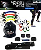 11 Piece Speed Agility Strength Kinetic Leg Resistance Bands- Fitness Exercise Bands, complete set for Soccer Kick Boxing Basketball Football all Sports Training, Official Elite Athletic Bands Review