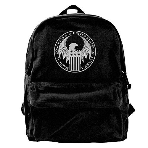 VCARETF Canvas Backpacks Fantastic Beasts And Where To Find Them Canvas Backpack Travel Rucksack Backpack Daypack Knapsack Laptop Shoulder Bag