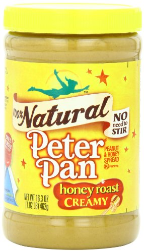 Peter Pan Natural Honey Roast Creamy Spread, 16.3 Ounce (Pack of 12)