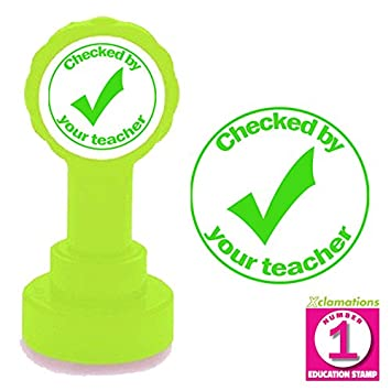 Checked By Your Teacher Tick Design Stamp