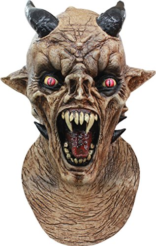 [Morris Costumes Halloween Party Cosplay Nightmare Latex Mask] (Devil Masks For Sale)
