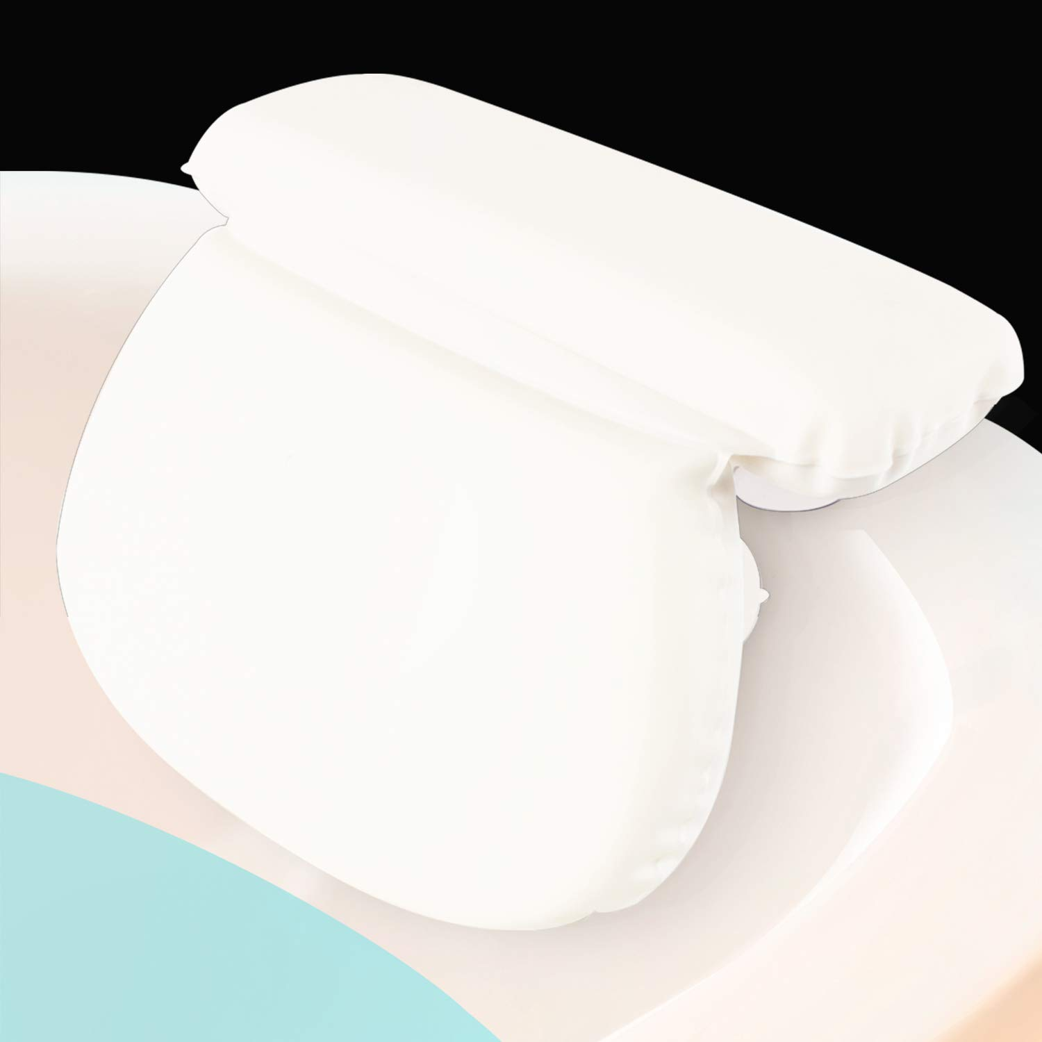 """Xtra-Comfort Bath Pillow (2"""" Thick) - Bathtub Spa Cushion For Neck, Shoulder and Head Support - Hot Bath Tub and Jacuzzi Wedge - Soft Waterproof Headrest With Suction Cups - Quick Dry : Beauty"""