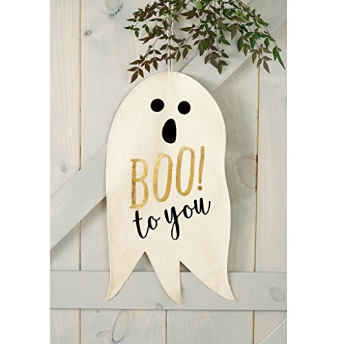 Mud Pie Halloween Decor Door Or Wall Canvas Hanger - 4065003 -