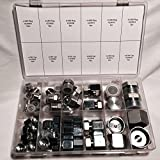 64 Pcs Lot Brand New ORFS O-RING ORS Plug & Cap Flat Face Hydraulic Fitting Seal Kit Set