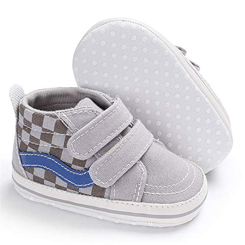 Meckior Save Beautiful Toddler Baby Girls Boys Shoes Infant First Walkers Sneakers (0-6 Months, E-Gray) - Infant Boys Crib Shoes