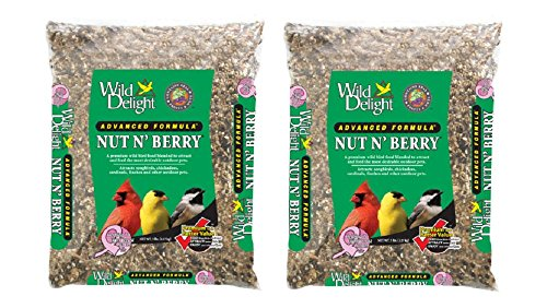 Wild Delight 5 lb Nut and Berry Wild Bird Food (2 Pack) (Shelled Safflower Bird Seed)