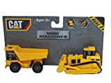 mini machines caterpillar - Caterpillar 2 pack Free Wheeling Mini CAT Machines Dump Truck and Bulldozer For Preschooler kids Boys Girls