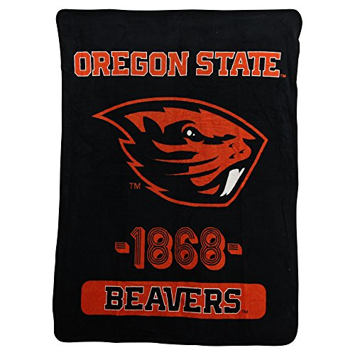 Officially Licensed NCAA Oregon State Beavers Varsity Micro Raschel Throw Blanket, 46