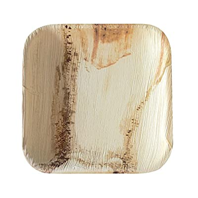 Agrifold Disposable Plates - Square Deep Palm Leaf Biodegradable & Compostable Plate