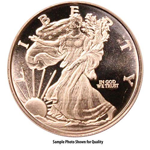 (One (1) Ounce .999 Fine Copper Round: Walking Liberty)