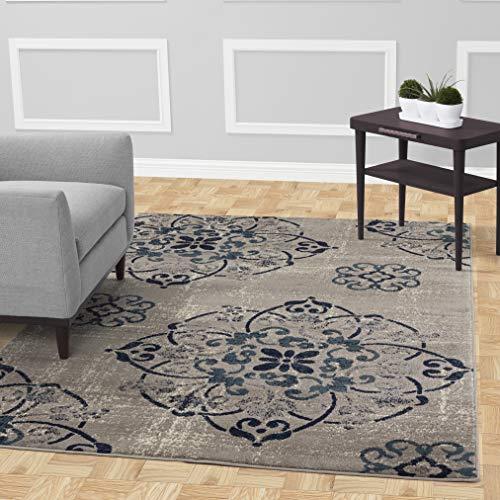 - Diagona Designs Contemporary Floral Medallion Design 8' X 10' Area Rug, 94