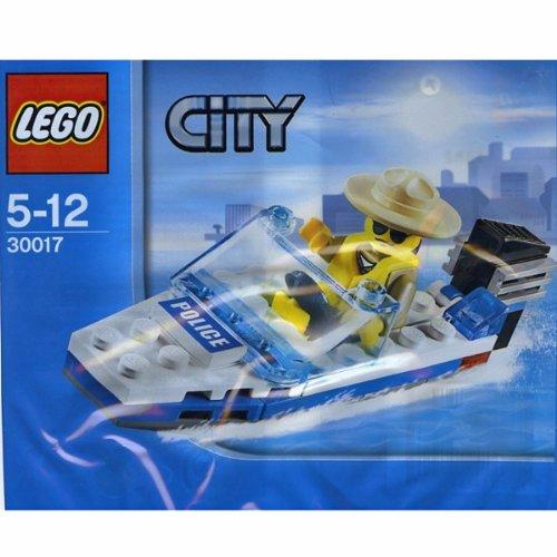 LEGO City Mini Figure Set #30017 Police Boat Bagged ()
