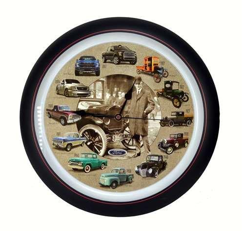 Truck Clock - Mark Feldstein Ford Truck 100th Anniversary 13 inch Sound Clock Grill Center