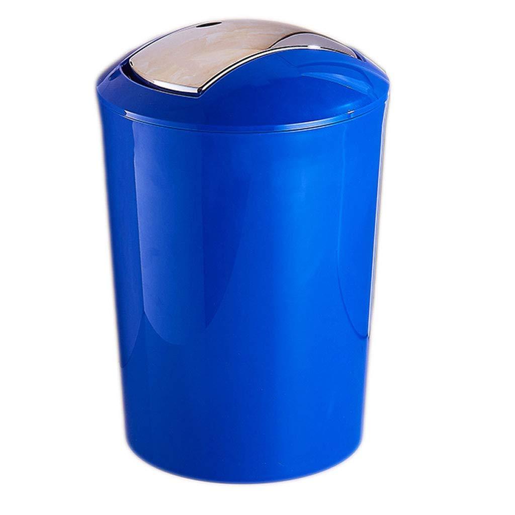 FAMILI DA Mülleimer aus Kunststoff rund Zuhause schütteln Abfalleimer Wohnzimmer Schlafzimmer Küche Büro Mülleimer 10 l (Farbe  Rot) Hellblau B07P5NMTLF | Spielzeugwelt, fröhlicher Ozean