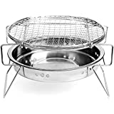 Linkeria Portable Charcoal Grill BBQ Griller on Clearance Thickened Stainless Steel Folding Grill - Tabletop outdoor cooking charcoal grills-Portable outdoor grill