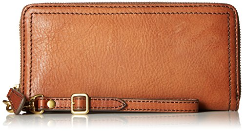 FRYE Claude Zip Wallet, Whiskey, One Size
