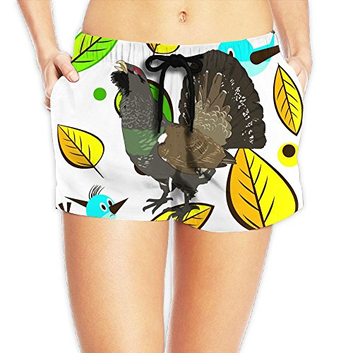 Decent Swimming Costume For Women (Grouse Waist Shorts Female Sweat PantsCool Graphic)