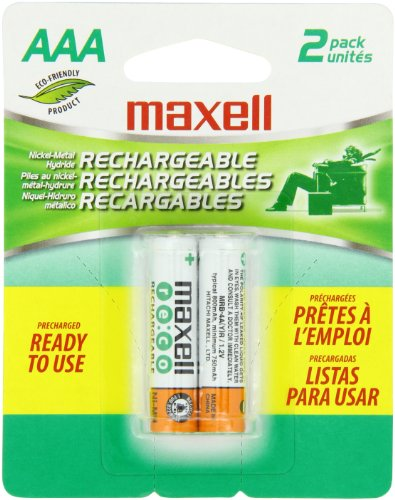 UPC 025215793073, Maxell MH03 2BP AAA 800 mAh Rechargeable Batteries - 2 Pack