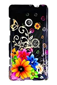 Graphic Case for Nokia Lumia 521 - Chromatic Flower (Package include a HandHelditems Sketch Stylus Pen)