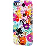 Speck Products CandyShell Inked Case for iPhone SE/5/5S -Retail Packaging- Bold Blossoms White/Revolution Purple