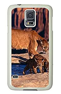 Samsung S5 carry cases Canyon Cougars PC White Custom Samsung Galaxy S5 Case Cover